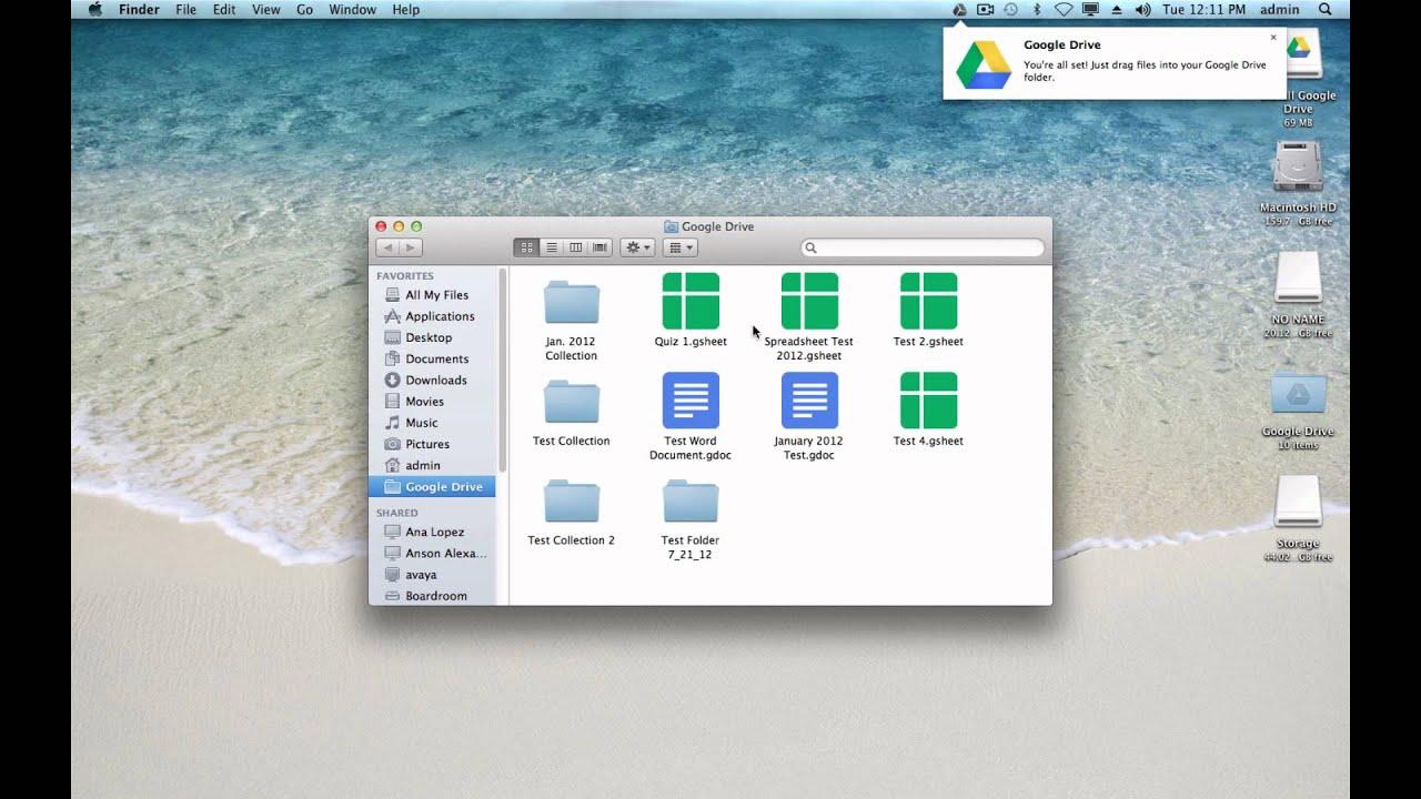 Google Drive Mac pc