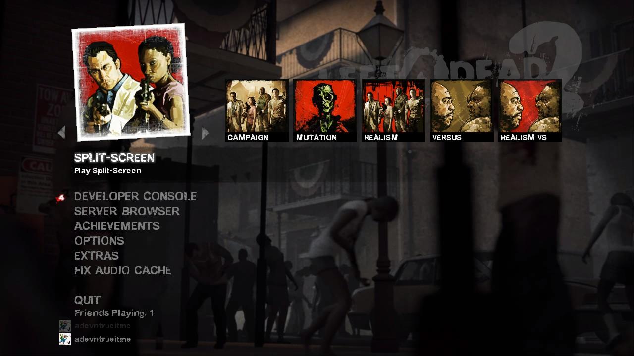 Left For Dead 2 PC Split Screen
