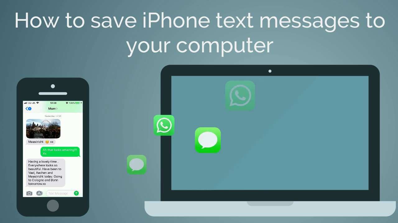 How To Save Text Messages From iPhone To PC