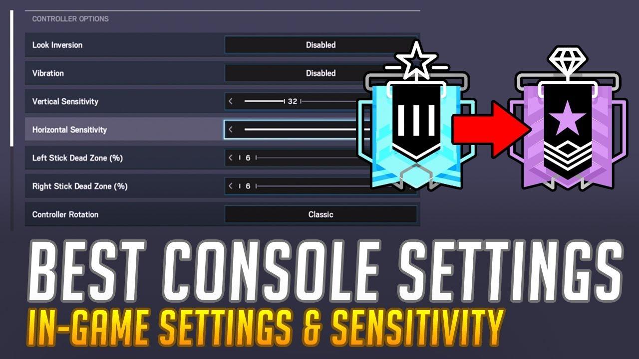 Best Sensitivity For Rainbow Six Siege